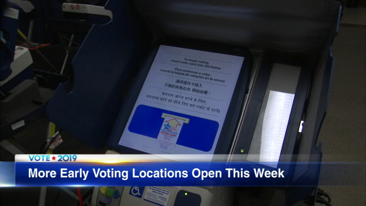 Early voting for the February 26 election opens Monday in Chicago, Cook County and Lake County.