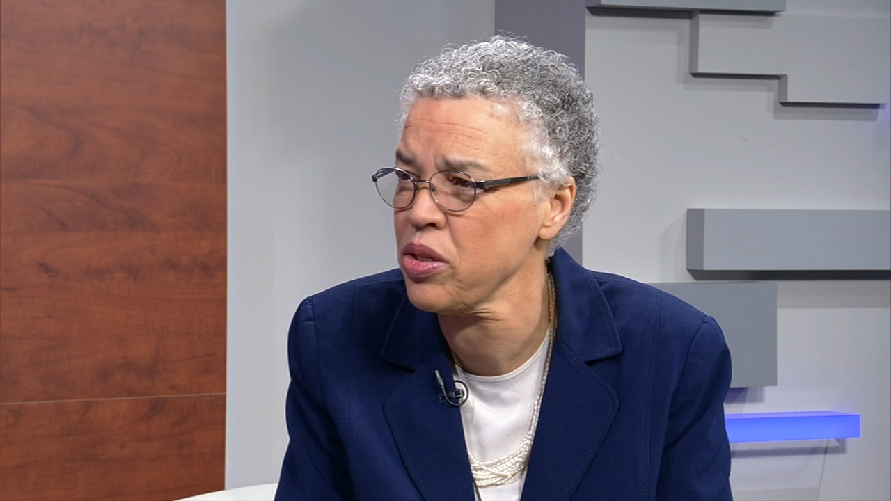 Terrell Brown interviews mayoral candidate Toni Preckwinkle.
