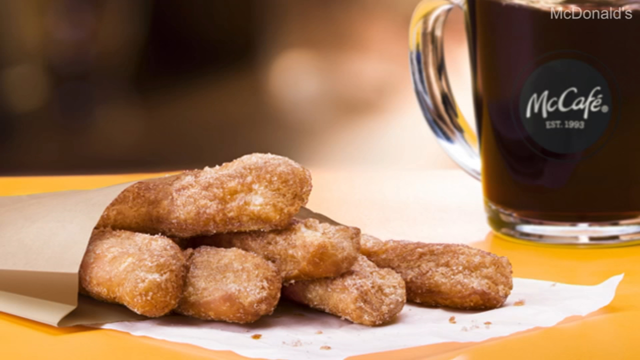 The fried dough rods come in packs of six or 12, and served warm with cinnamon and sugar.