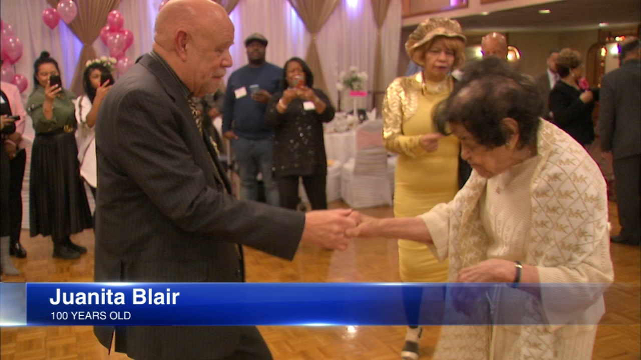 A local woman danced at her 100th birthday celebration Sunday night.