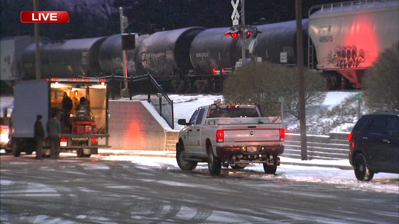 A pedestrian was struck by a freight train in Villa Park  Monday morning, disrupting Metra UP West service.