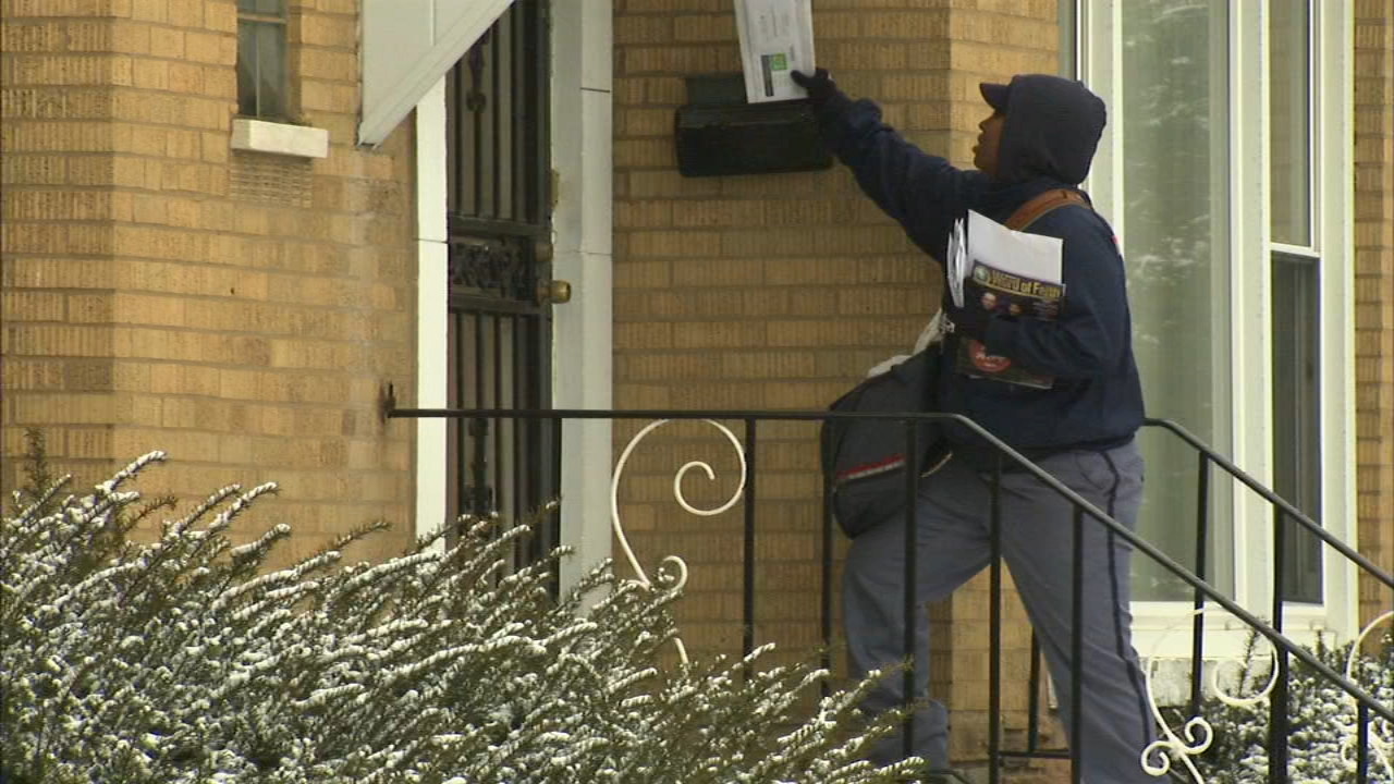 Residents of Chicago's Wrightwood community said they're having major postal problems, with mail being delivered sometimes only once a week.