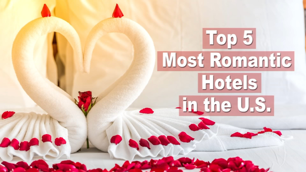 Take a look at the Top 5 Romantic Hotels in the U.S., according to TripAdvisor.