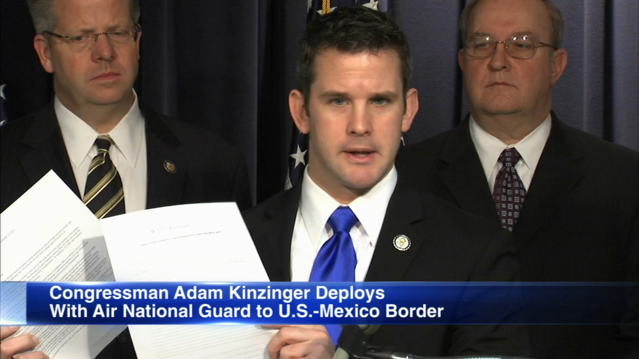 Rep. Adam Kinzinger is being deployed to the southern border with an Air Force National Guard Unit, according to a statement by his communications director.