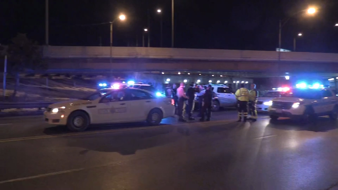 A man and woman were shot on the Kennedy Expressway near Diversey Avenue Thursday morning.