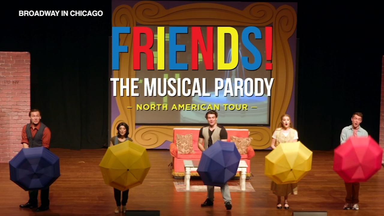 FRIENDS! The Musical Parody is now playing at Broadway Playhouse at Water Tower Place.