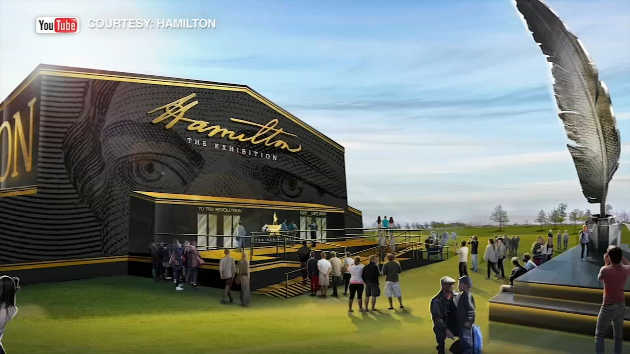 The opening for Hamilton the Exhibition at Northerly Island has been pushed back three weeks.