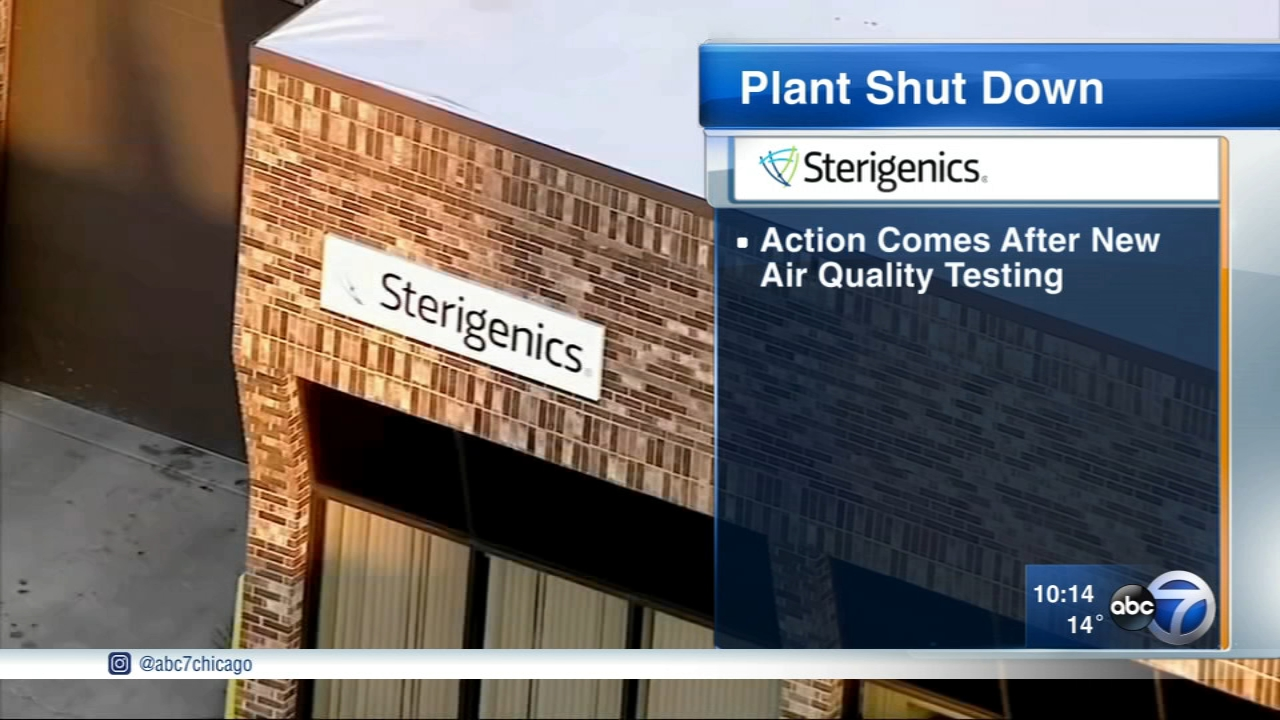 After new testing, the Sterigenics plant in suburban Willowbrook will be shut down Friday night, according to Willowbrook officials.