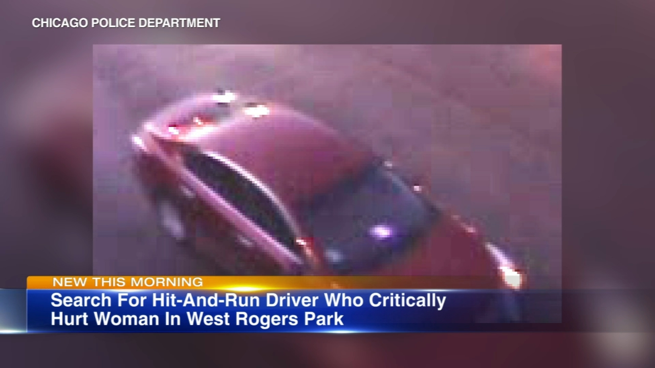 Police are searching for a car involved in a hit-and-run crash with a pedestrian Thursday evening in the West Rogers Park neighborhood.