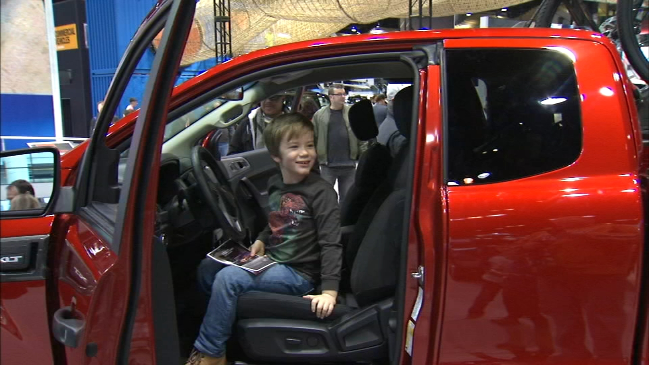 With work and school mostly closed for the federal holiday, a lot of young families made a day of this final installment of this years auto show.