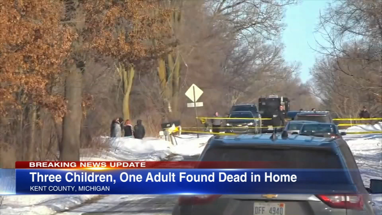 Authorities say three children and a woman were found dead of apparent gunshot wounds at a home in western Michigan.