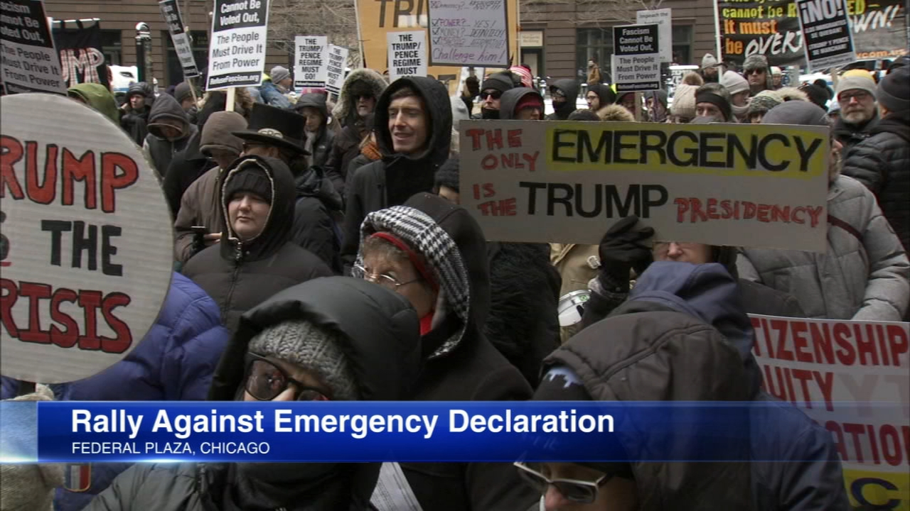 Sixteen states on Monday evening filed a lawsuit challenging President Donald Trumps national emergency declaration.
