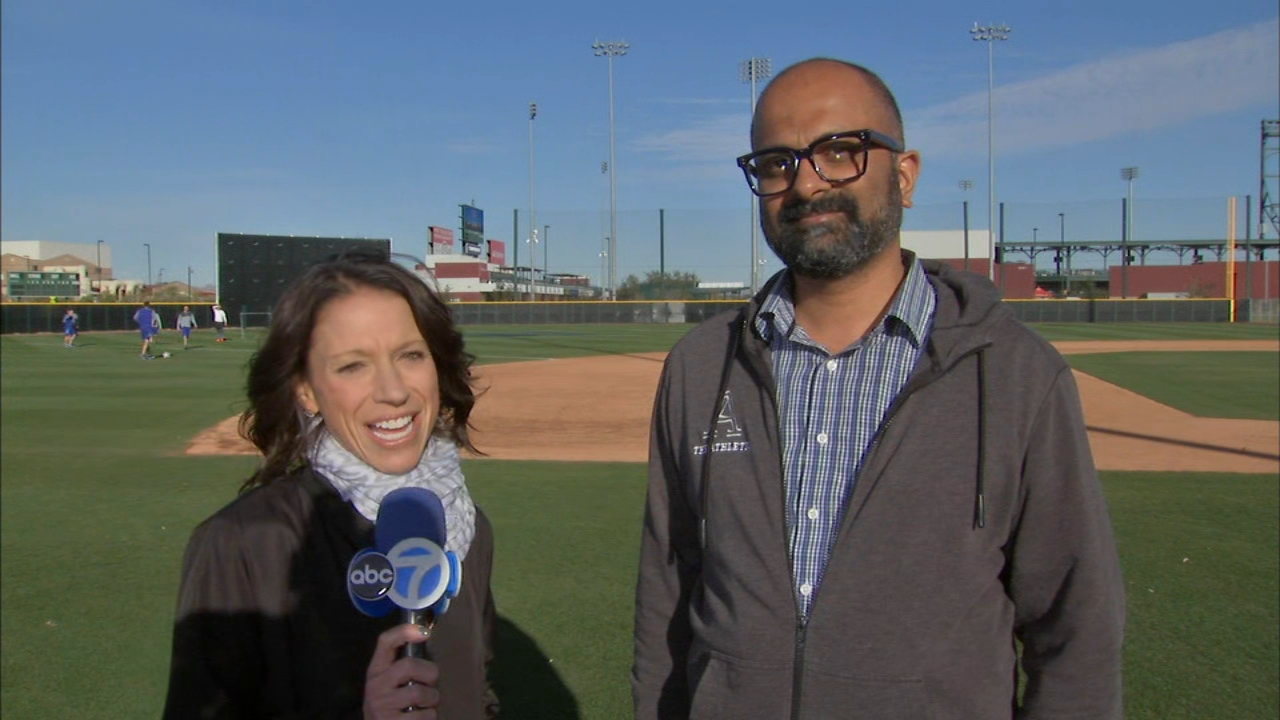 ABC7 sports reporters Dionne Miller and Sahadav Sharma from The Athletic talked about Kris Bryant looking like himself again, Iann Happ growing up and Joe Maddons endless cup of b