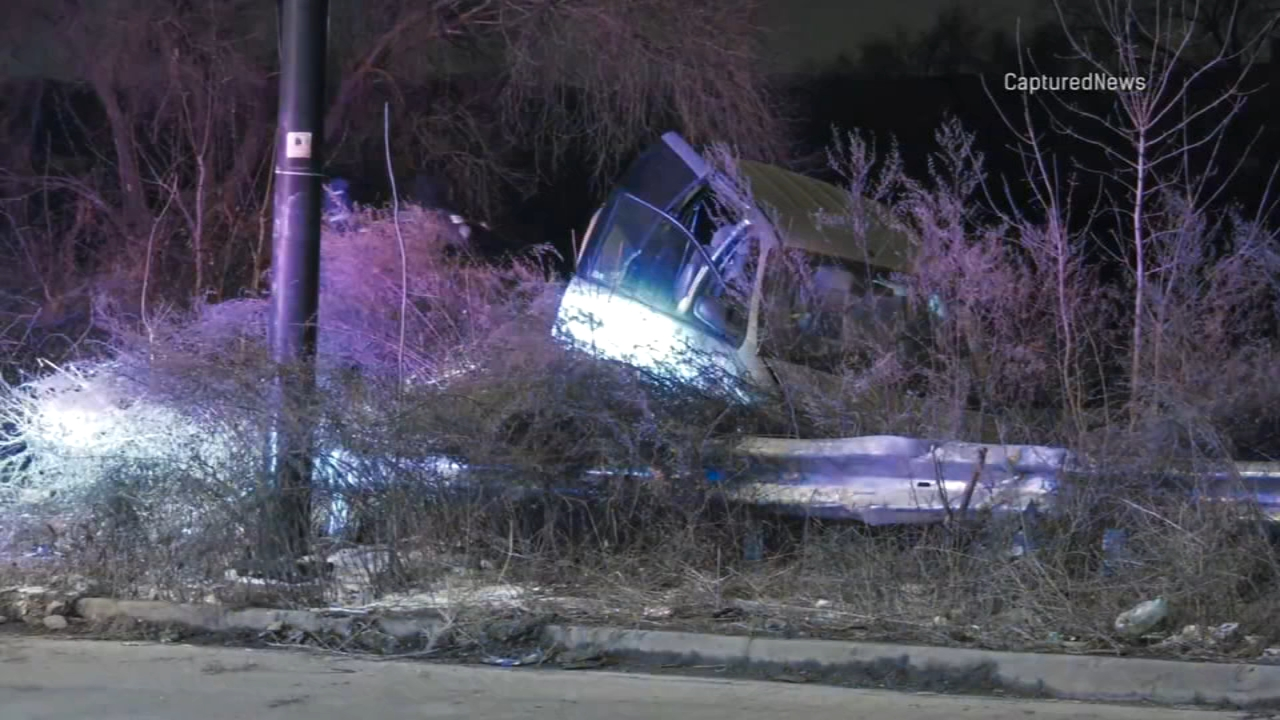 A driver being pursued by Hammond police crashed a minivan on the Far South Side Wednesday morning, Chicago police said.