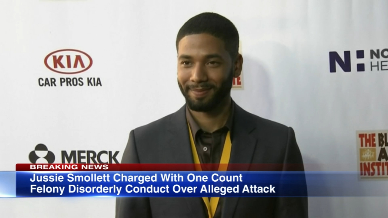 Empire actor Jussie Smollett has been charged with one count of felony disorderly conduct for filing a false police report, the Cook County States Attorneys Office said.