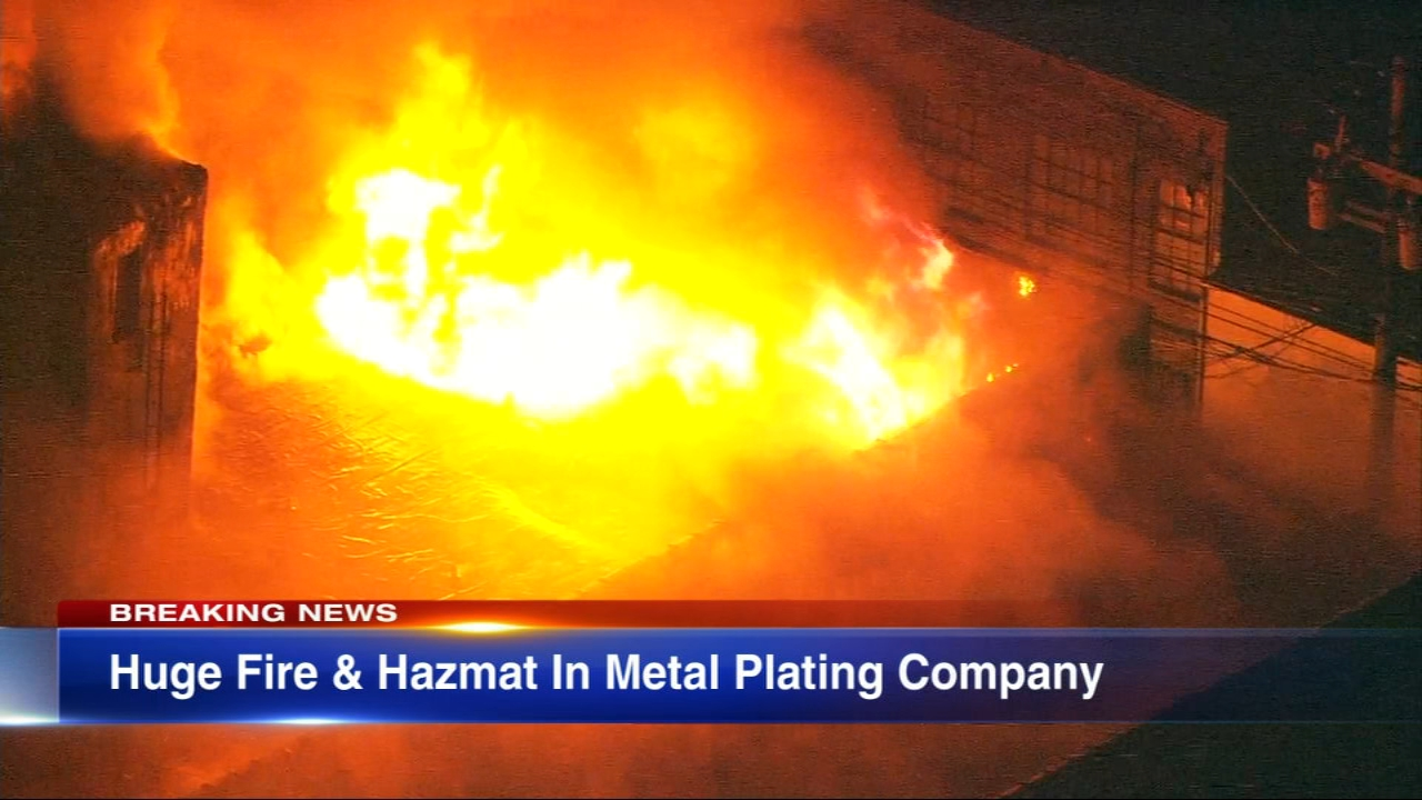 Firefighters battled an extra-alarm fire at a Near West Side metal plating company Thursday morning.