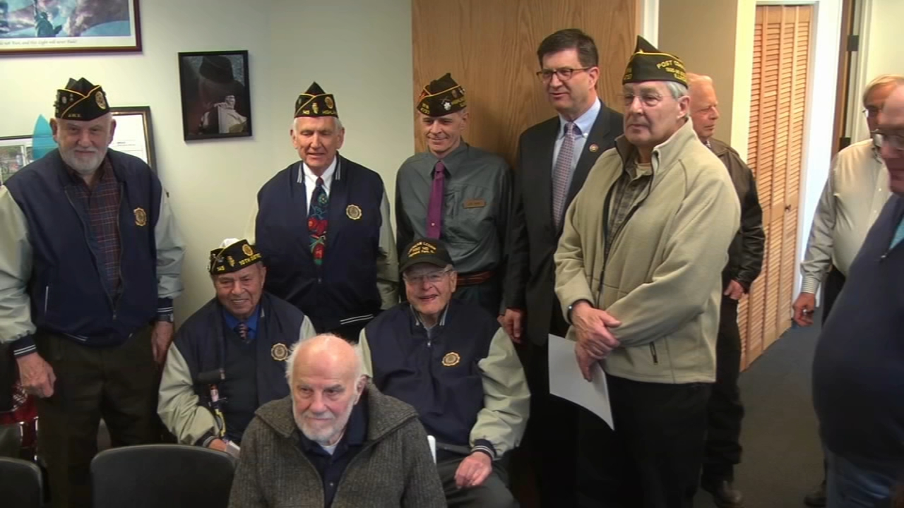 Two veterans in the north suburbs celebrated their 100th birthdays with fellow veterans.