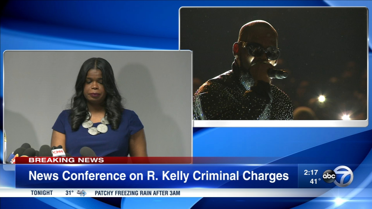 Cook County States Attorney Kim Foxx announced charges against R. Kelly Friday in a press conference.