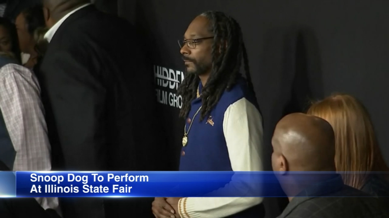 Rap icon Snoop Dogg is set to headline the Illinois State Fair. Hes the third act announced for this years show.