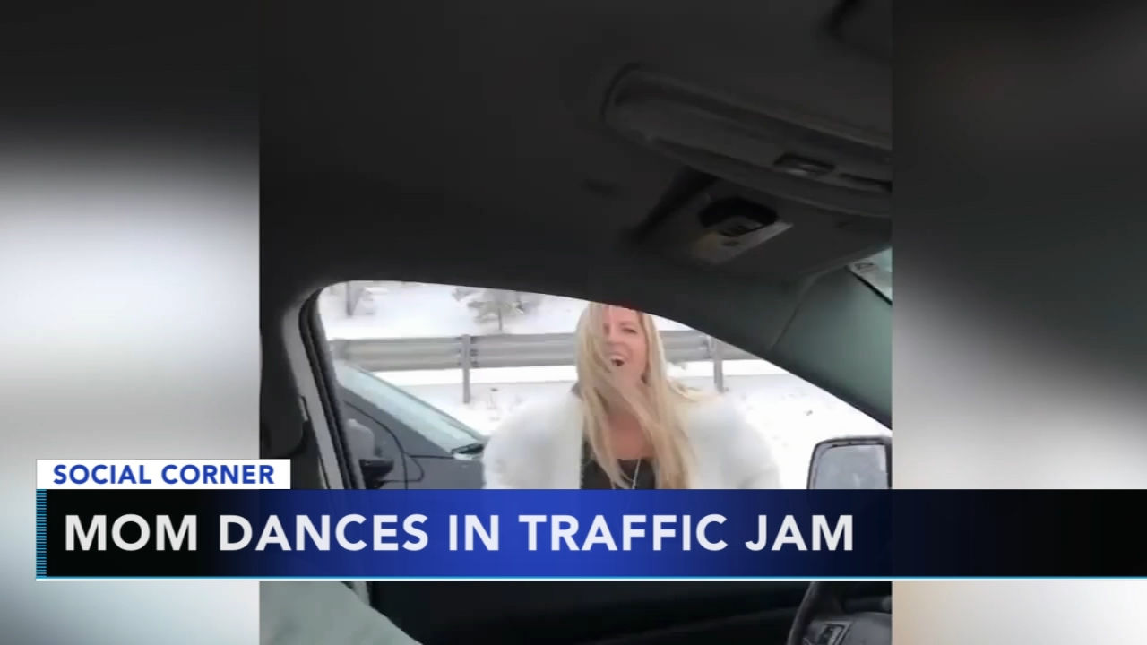 Colorado mom busts a move while stuck in 5-hour traffic jam. Gray Hall reports during Action News at 10 a.m. on February 10, 2019.