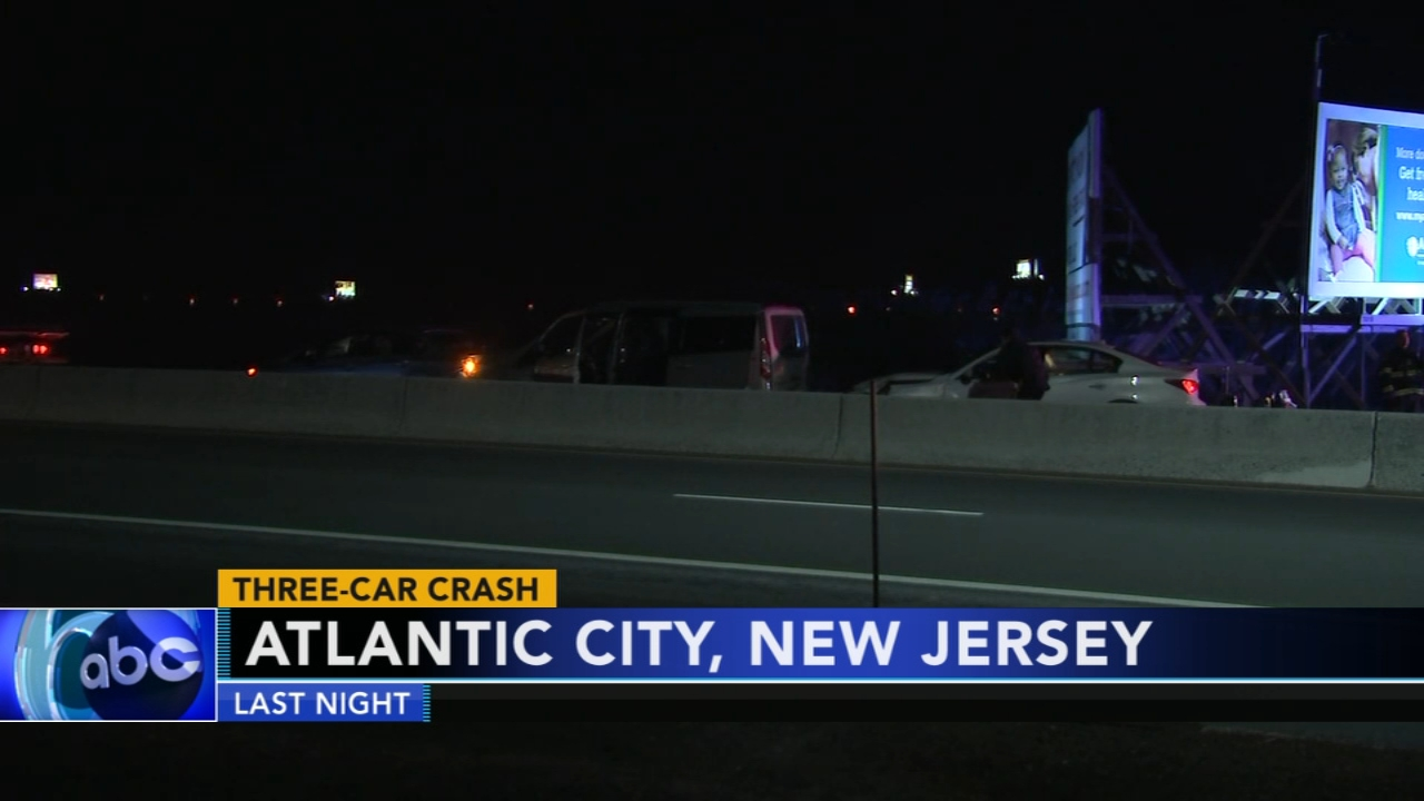 3-car crash in Atlantic City, N.J. Matt ODonnell reports during Action News Mornings on February 11, 2019.