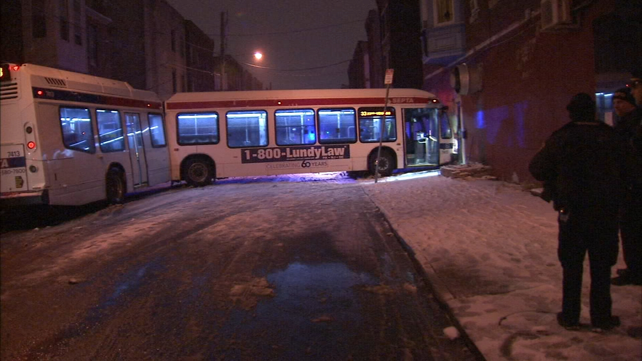 SEPTA bus crashes into North Philadelphia home. Jeannette Reyes reports during Action News at Noon on February 11, 2019.