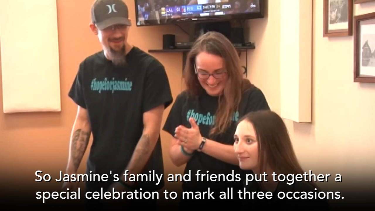 Family and friends put together a heartwarming celebration to mark three different occasions.