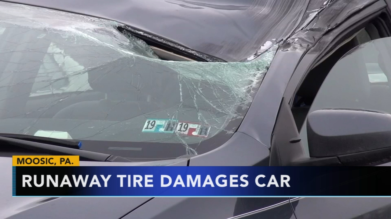 Runaway tire damages car on Pa. highway. Matt ODonnell reports during Action News Mornings on February 12, 2019.