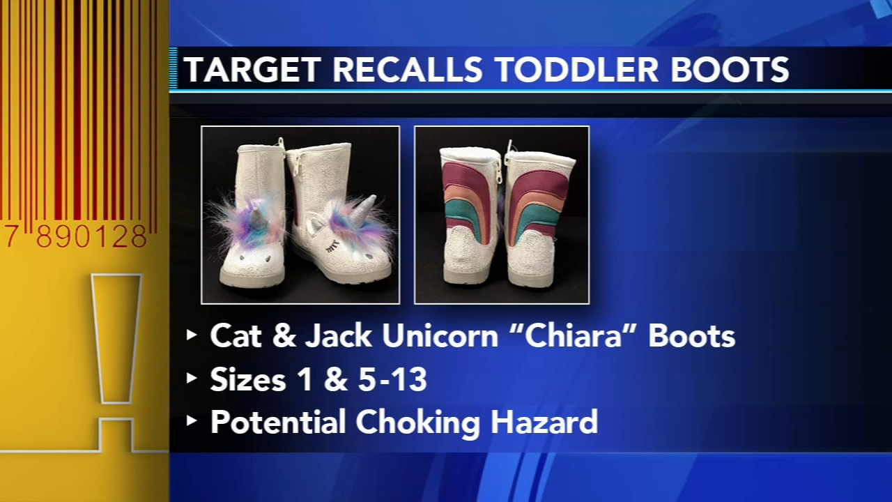 Target issues recall for unicorn boots: as seen on Action News at 5 p.m., February 12, 2019