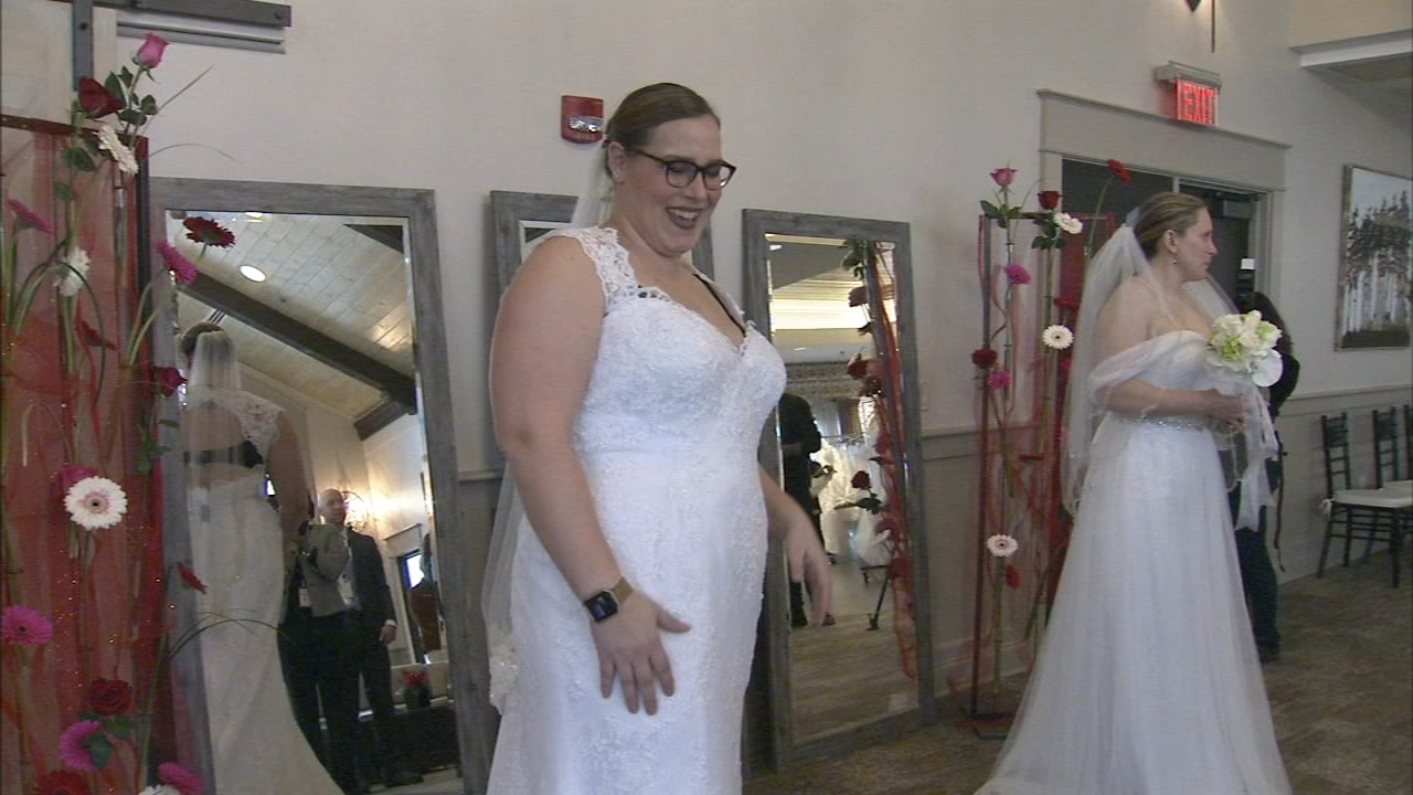 From wedding gowns to veils and every accessory in between, on Tuesday military families planning their big day were treated to it all.