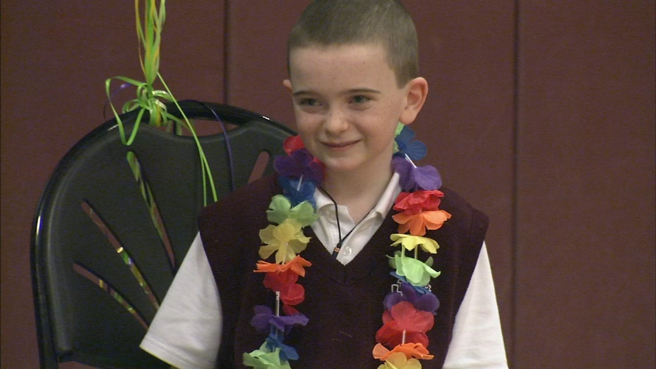 Big surprise for courageous 9-year-old boy in Havertown. Rick Williams reports during Action News at 5:30 p.m. on February 13, 2019.