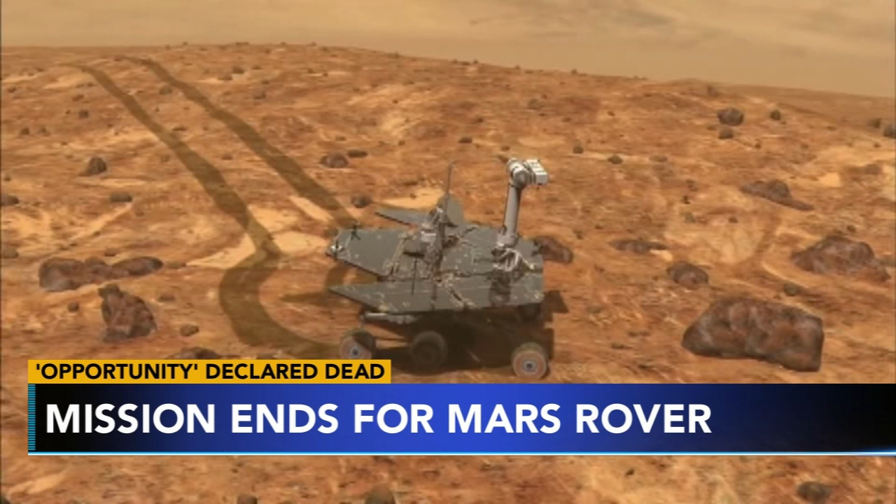 NASAs rover thats been on the planet Mars for 15 years is no longer in operation. Sharrie Williams has more on Action News at 4 p.m. on Feb. 13, 2019.