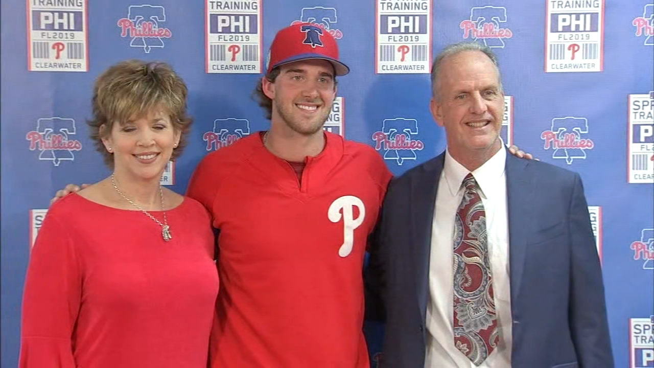Phillies pitcher Aaron Nola excited for upcoming season: jeff Skversky reports on Action News at 11 p.m., February 14, 2019