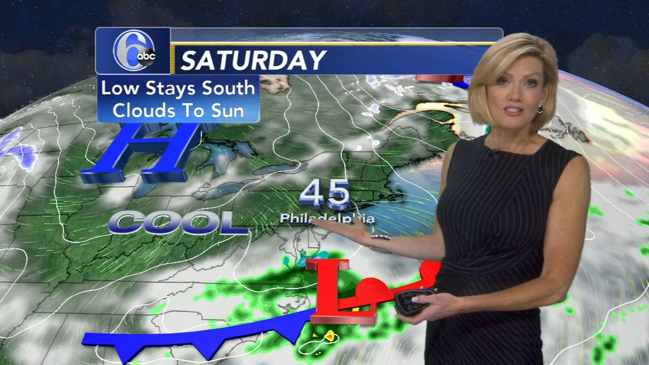 Cecily Tynan reports on AccuWeather during Action News at 11 p.m. on February 15, 2019.