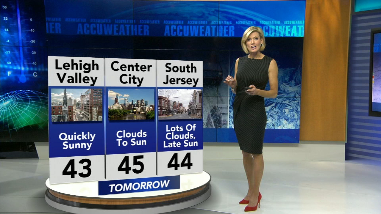 Cecily Tynan reports on AccuWeather during Action News at 6 p.m. on February 15, 2019.