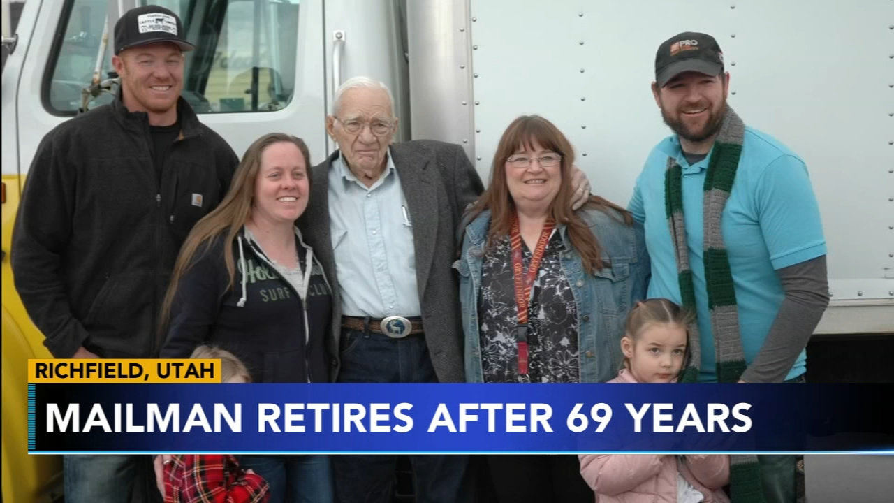 91-year-old Utah mailman retires with perfect record. Gray Hall reports during Action News at 7 a.m. on February 16, 2019.