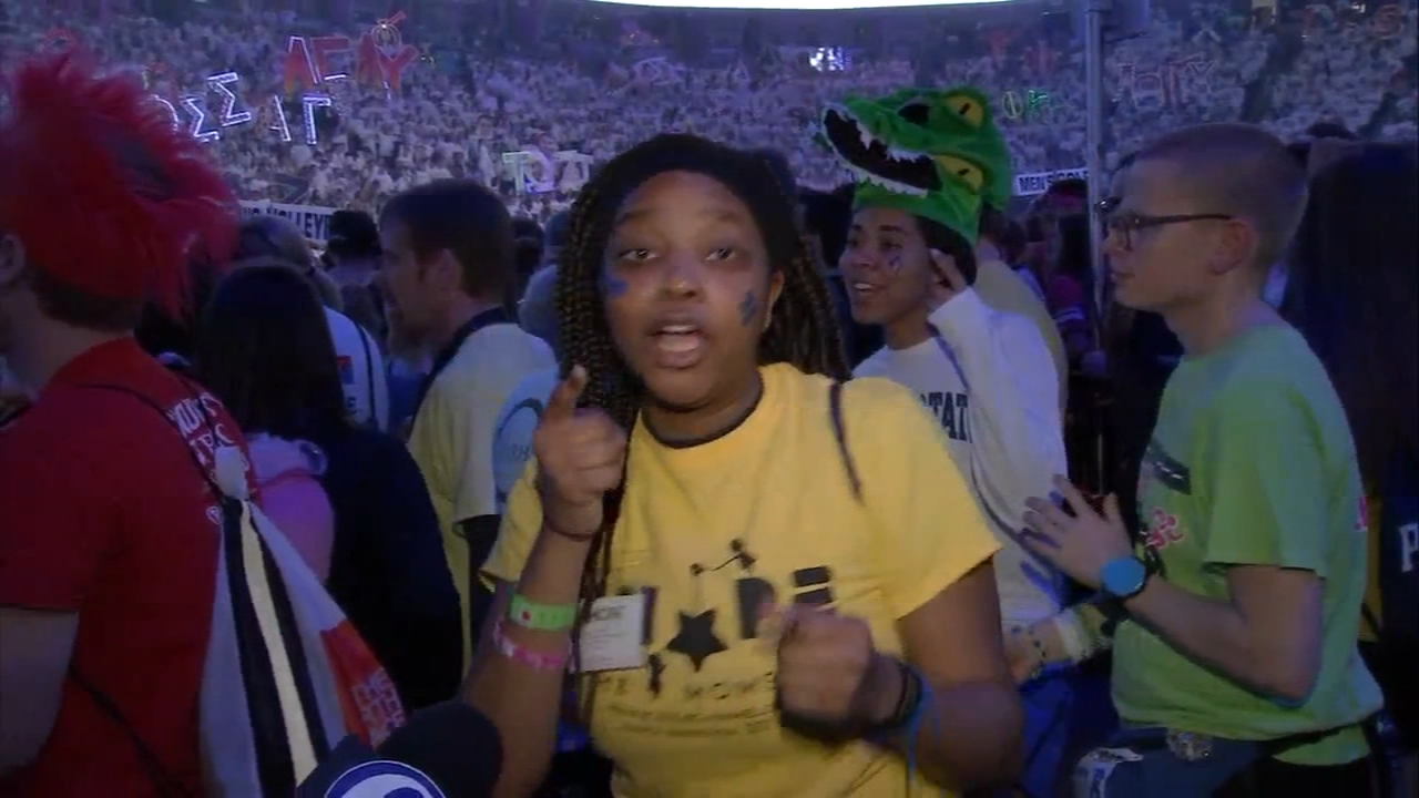 2019 THON participants continue to dance the hours away. Bob Brooks reports during Action News at 11 p.m. on February 16, 2019.