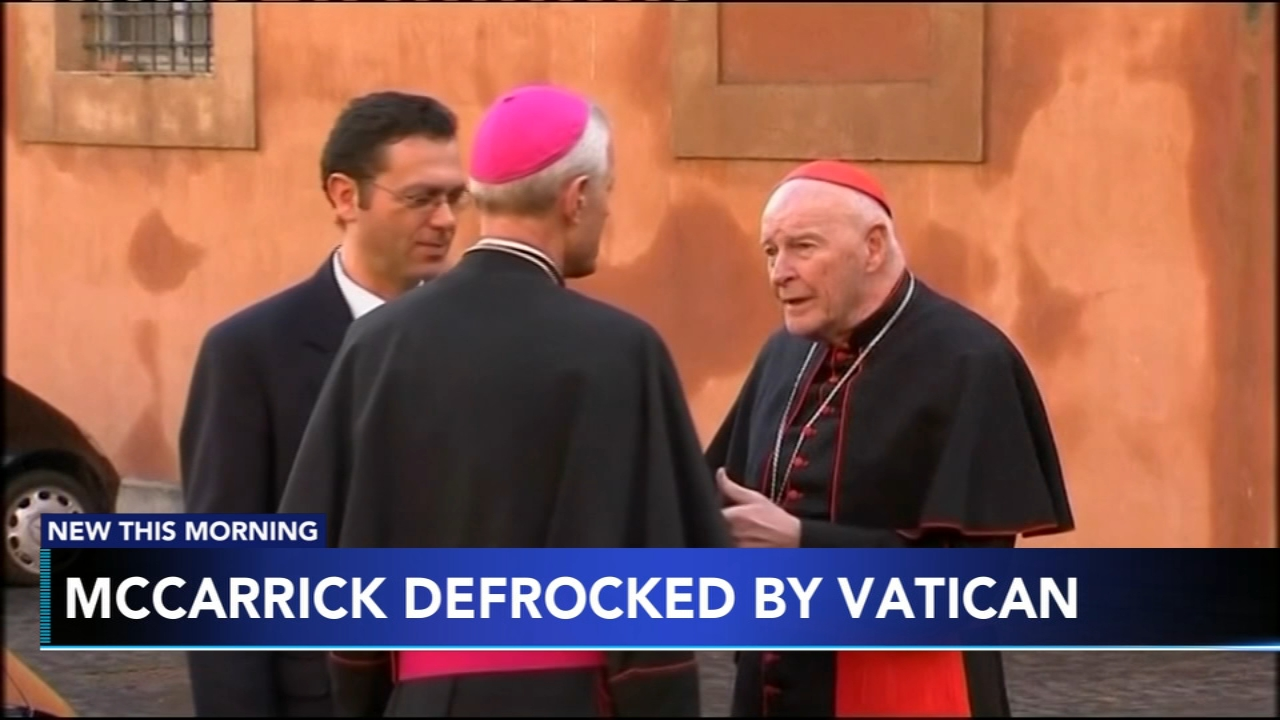 Vatican defrocks former US cardinal McCarrick over sex abuse. Christie Ileto reports during Action News at 7 a.m. on February 16, 2019.