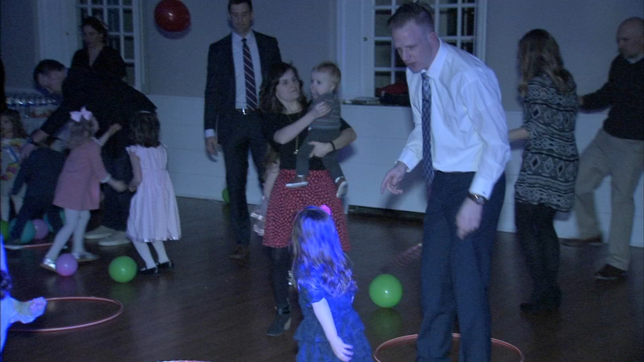 Students and parents celebrate Valentines Day at Sweetheart Dance in Delaware County. Brian Taff reports during Action News at 10 p.m. on February 15, 2019.