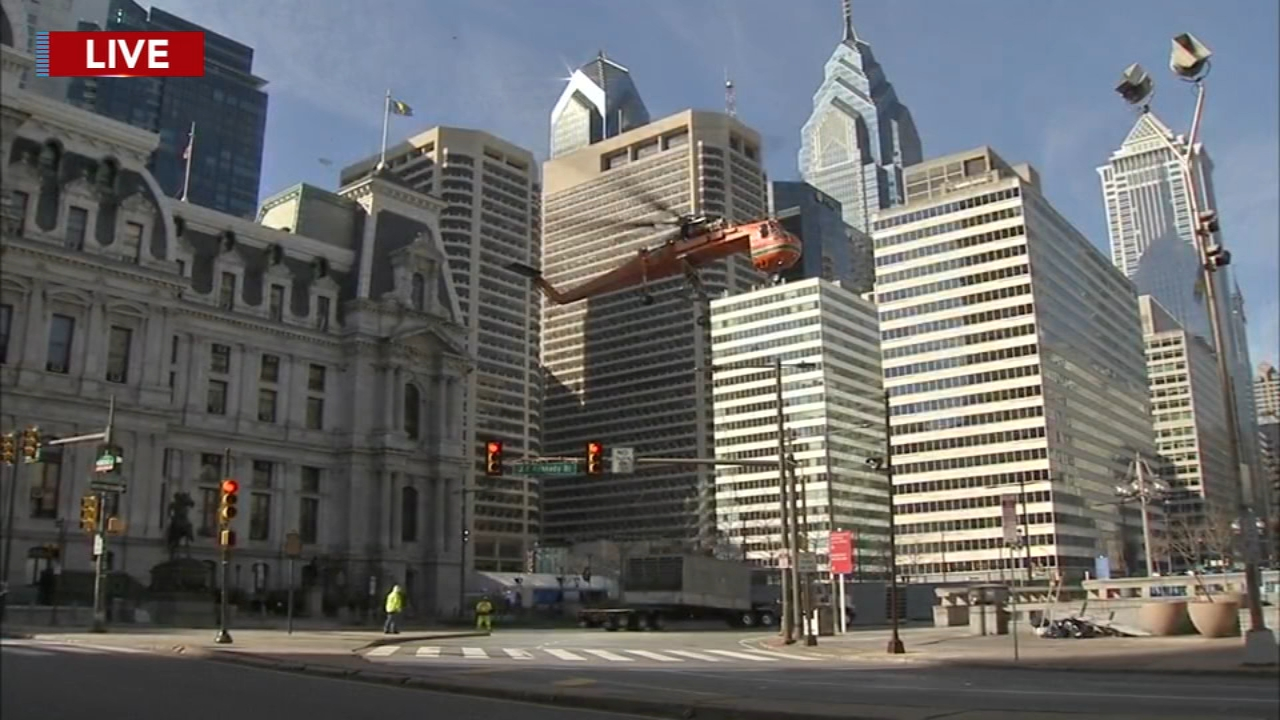 Multiple Center City streets temporarily shut down to accommodate equipment transportation. Annie McCormick reports during Action News at 10 a.m. on February 17, 2019.