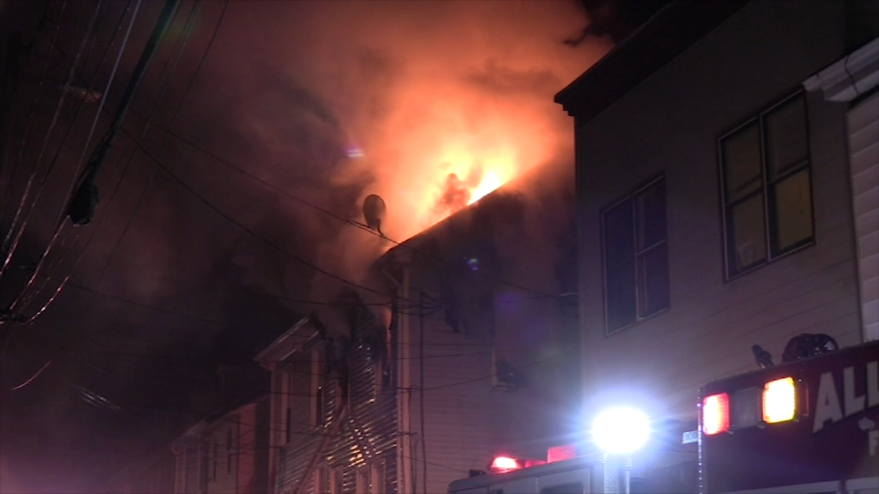 Fire crews battle fire at apartment building in Allentown. Gray Hall reports during Action News at 6 a.m. on February 17, 2019.
