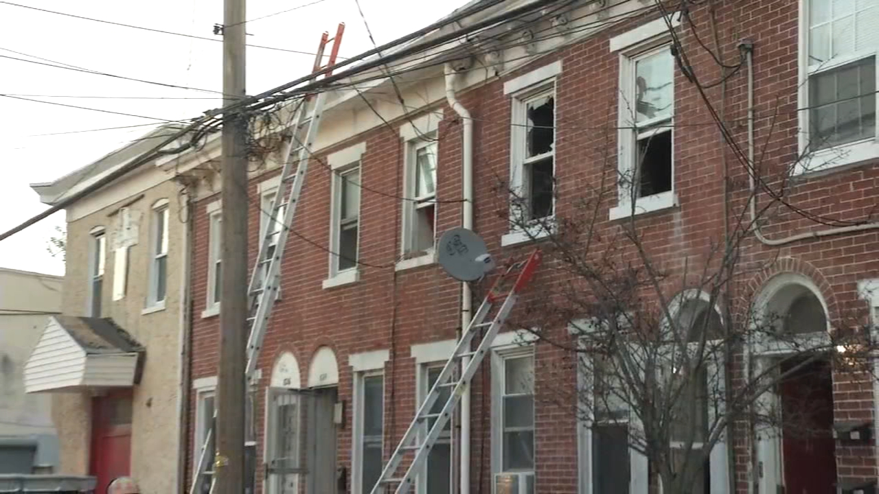 Wilmington firefighters battle fire inside row home. Nydia Han reports during Action News at 9 a.m. on February 17, 2019.