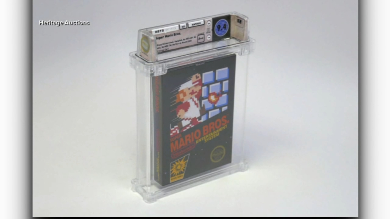 Unopened Super Mario Brothers game sells for $100k at auction. Nydia Han reports during Action News at 9 a.m. on February 17, 2019.