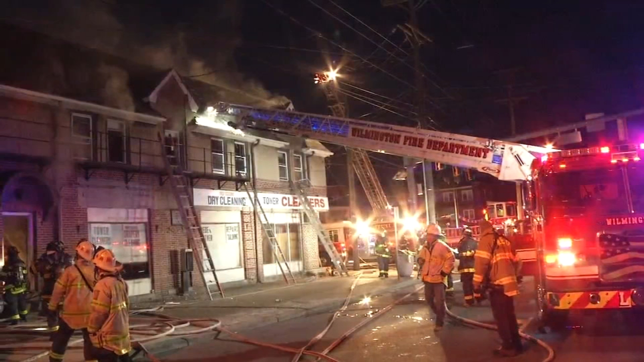 Firefighters battle fire at vacant building in Wilmington. Nydia Han reports during Action News at 9 a.m. on February 17, 2019.
