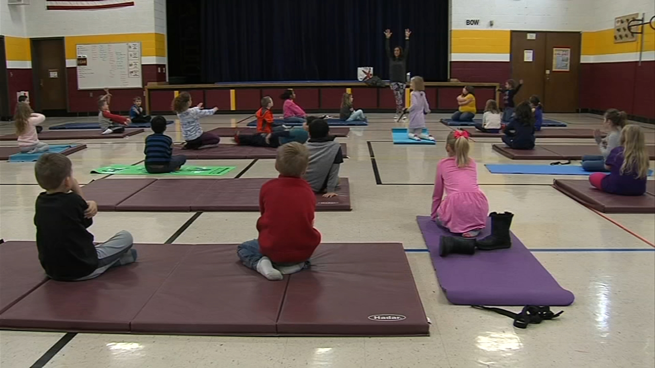 Yoga at a young age can help kids manage stress and calm themselves. Nydia Han reports during Action News at 7 a.m. on February 17, 2019.