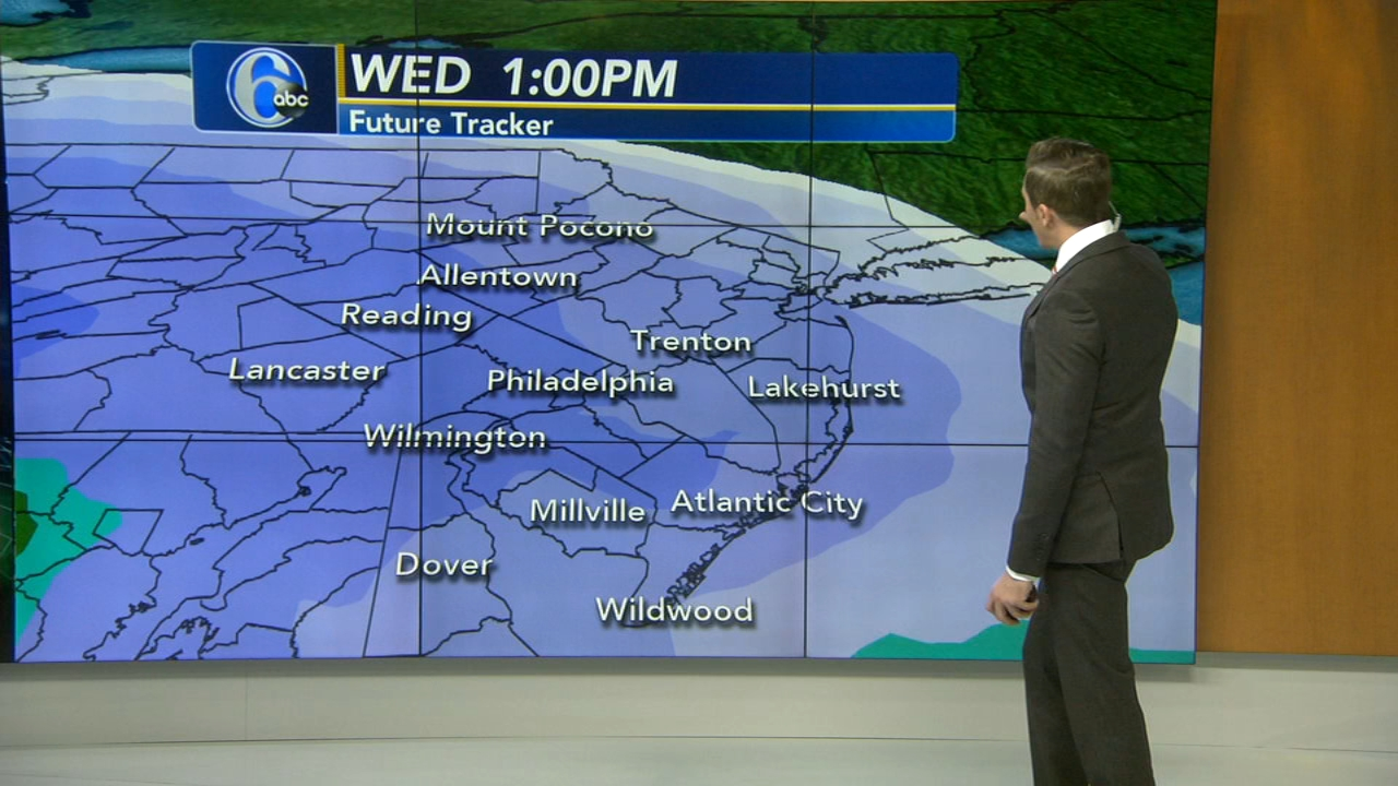 Adam Joseph with AccuWeather during Action News at 4pm on February 18, 2019.