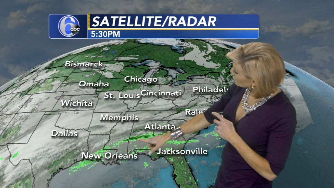 Cecily Tynan with AccuWeather as seen on Action News at 6 p.m., February 18, 2019