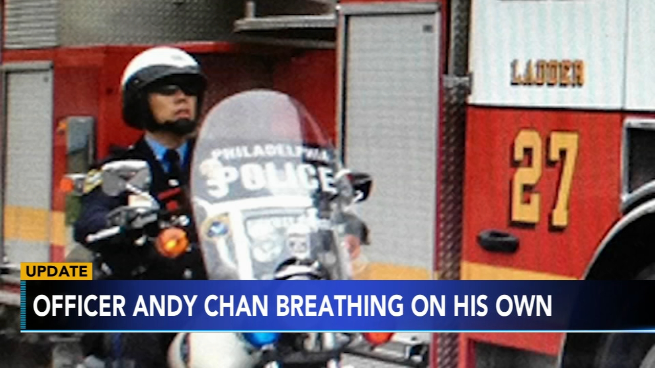 Highway Patrol Officer Andy Chan is breathing on his own after a serious crash. Jim Gardner has more on Action News at 11 p.m. on Feb. 18, 2019.