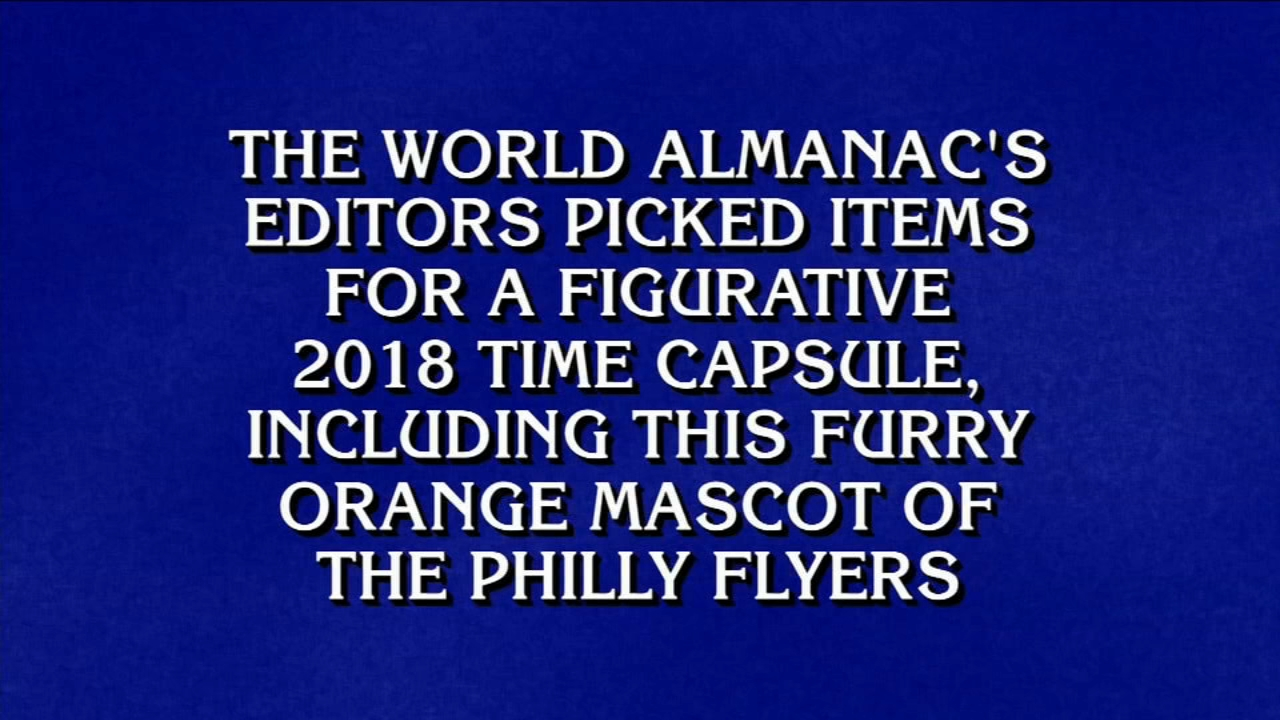 Gritty gets his own Jeopardy! clue on the January 15, 2019 episode.