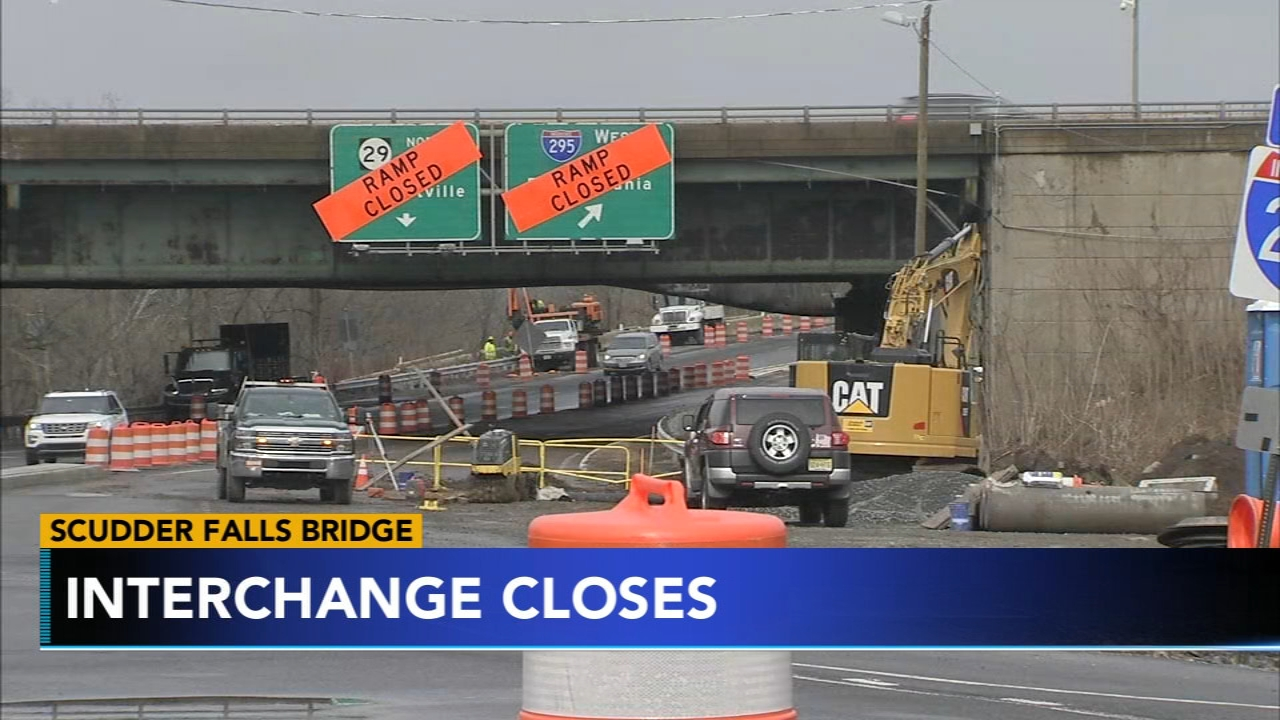 Scudder Falls Bridge, linking Bucks and Mercer Counties, will close until the summer. Monica Malpass has more on Action News at 5 p.m. on Feb. 18 2019.